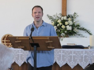 Anthony Dady giving the Sermon