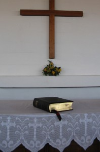 Bible on the altar