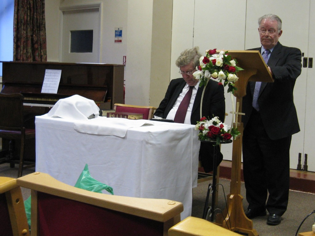 Mike Barlow takes part of the Service 2