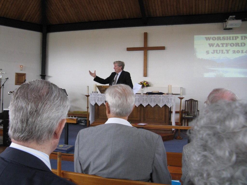 2014-07-05 David Silcox leading Hymns in Watford