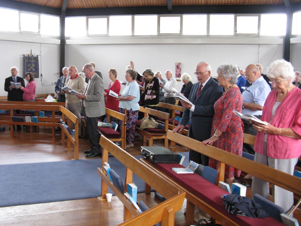 Congregation Singing Hymns
