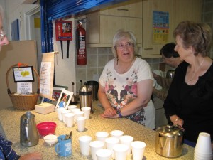Refreshments-ladies serving tea & coffee