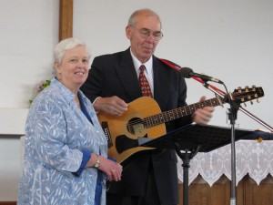 Sue Ann & George leading worship