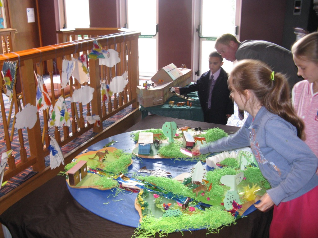 Children's Church work display