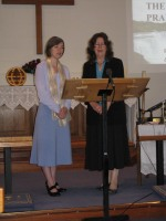 Rebecca & Nancy singing The Lord's Prayer
