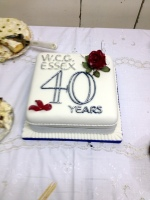 40th Anniv cake for Great Baddow