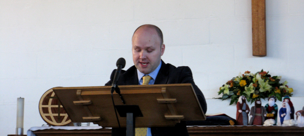 James Esom gives Intercessory Prayer