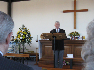 James Henderson gives the Sermon