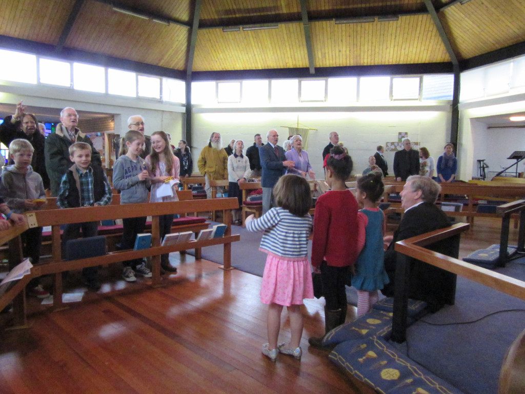 2015-02-28 Children duriing hymns