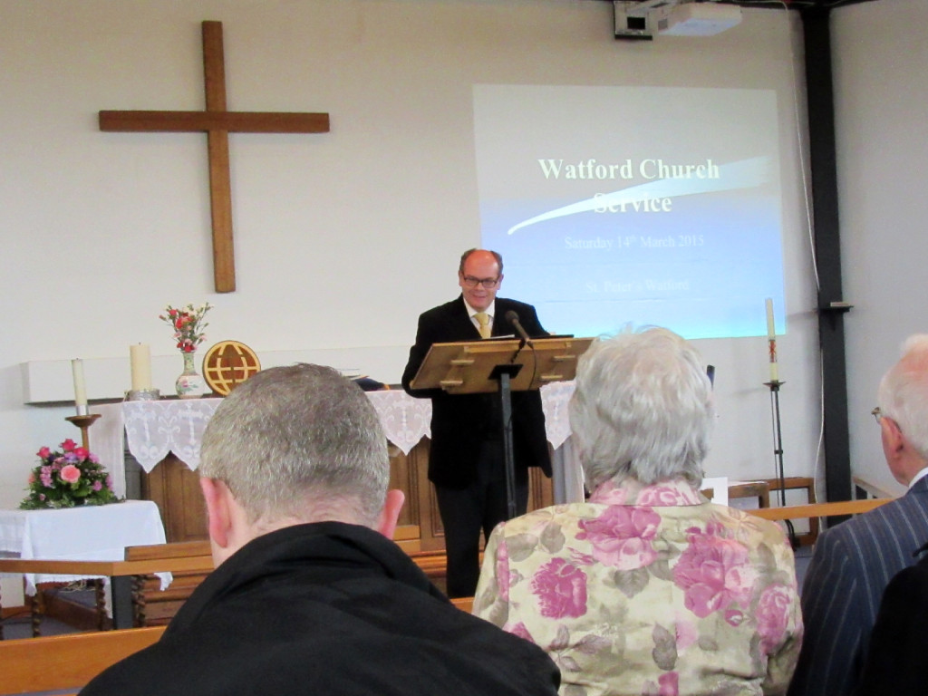 2015-03-14 Barry Robinson giving the Sermon
