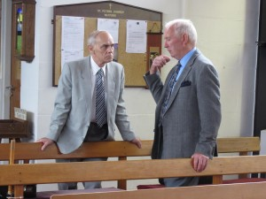 Reg & Winston chat after Services