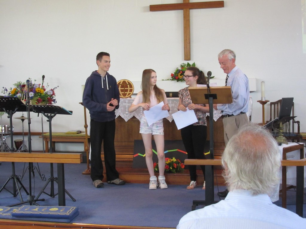 Presentation of Young Peoples Church Certificates