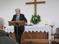 David Silcox gives the Sermon
