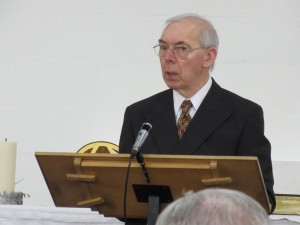 2016-03-20 George Henderson gives Announcements