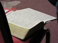 2016-04-21 Lord's Supper-Bible & glass on the chair