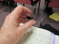 2016-04-21 Lord's Supper-wine in glass in hand
